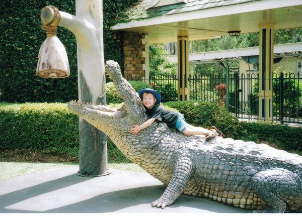 Smallest Crocodile Wrangler!