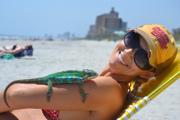 Wife,Chameleon, & Myrtle Beach