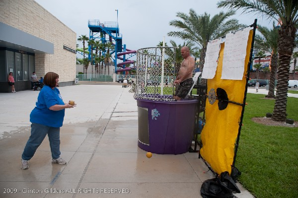 Action at the kingsnake.com charity dunk tank.