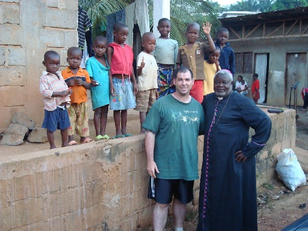 African orphanage and Rev. Pere Pierre Tang with Paul Bodnar
